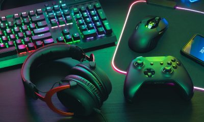 gaming switchboard and headphones